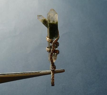 ヒマラヤ水晶ペンダント特殊形状025-4
