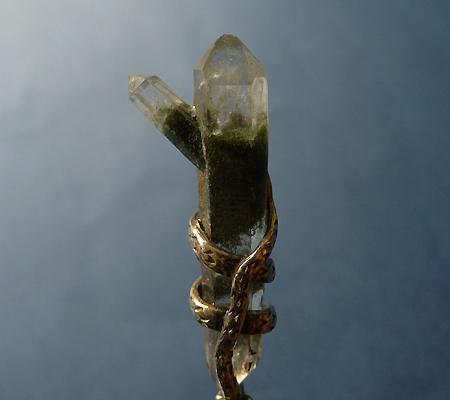 ヒマラヤ水晶ペンダント特殊形状025-5