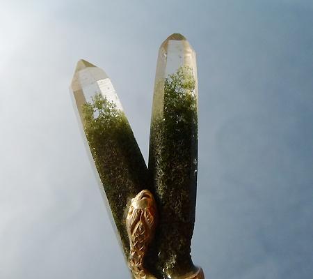 ヒマラヤ水晶ペンダント特殊形状027-3
