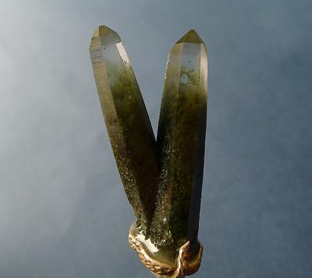 ヒマラヤ水晶ペンダント特殊形状027-5
