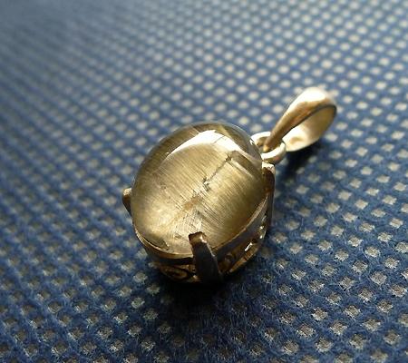 ルチル入り水晶ペンダント012-3