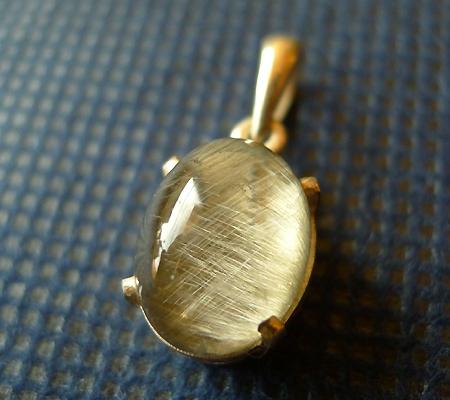 ルチル入り水晶ペンダント014-2