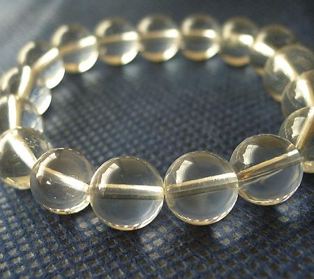 ヒマラヤ水晶ブレスレット透明丸玉105-2