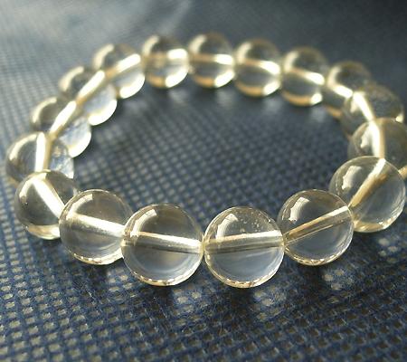 ヒマラヤ水晶ブレスレット透明丸玉105-5