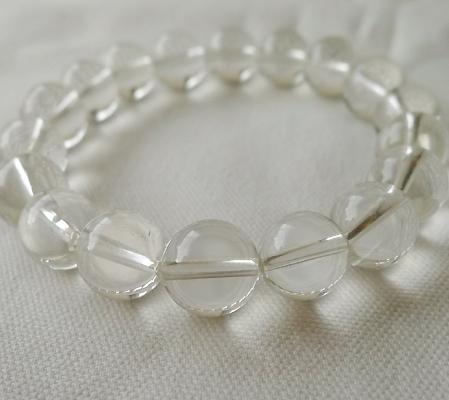 ヒマラヤ水晶ブレスレット透明丸玉106-10