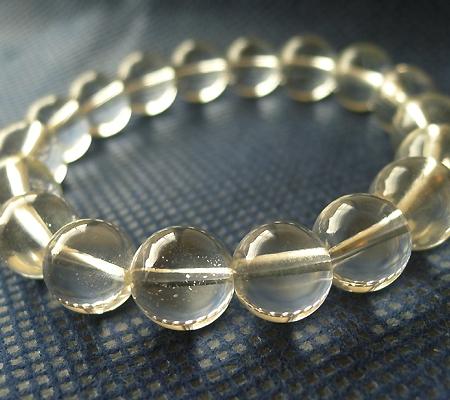 ヒマラヤ水晶ブレスレット透明丸玉106-2
