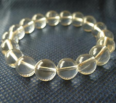 ヒマラヤ水晶ブレスレット透明丸玉106-4