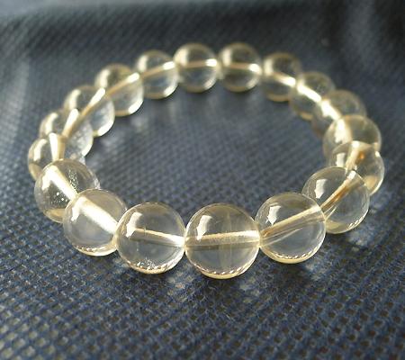 ヒマラヤ水晶ブレスレット透明丸玉106-6