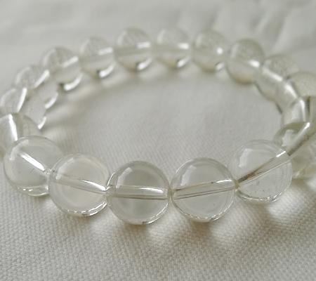 ヒマラヤ水晶ブレスレット透明丸玉106-8