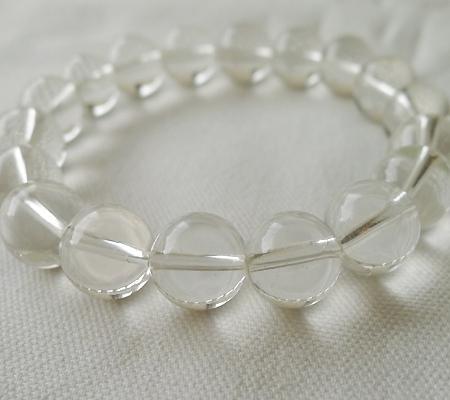 ヒマラヤ水晶ブレスレット透明丸玉106-9
