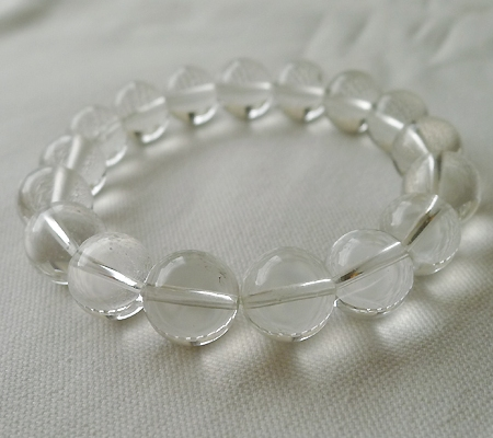 ヒマラヤ水晶ブレスレット透明丸玉107-5