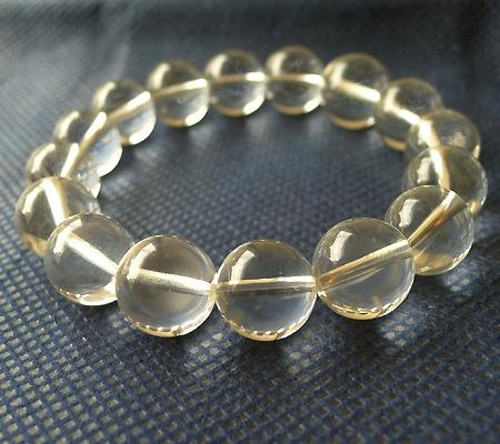 ヒマラヤ水晶ブレスレット透明丸玉108-2