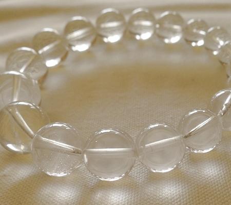 ヒマラヤ水晶ブレスレット透明丸玉115-10