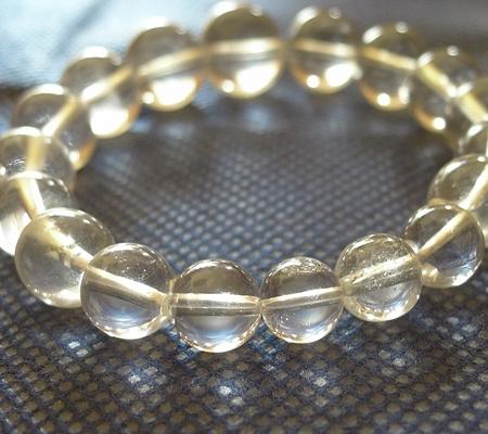 ヒマラヤ水晶ブレスレット透明丸玉115-5