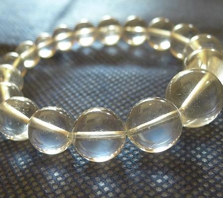 ヒマラヤ水晶ブレスレット透明丸玉115-7