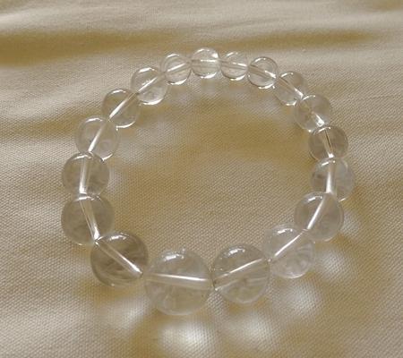 ヒマラヤ水晶ブレスレット透明丸玉115-8