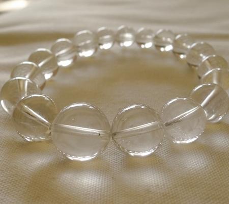 ヒマラヤ水晶ブレスレット透明丸玉115-9