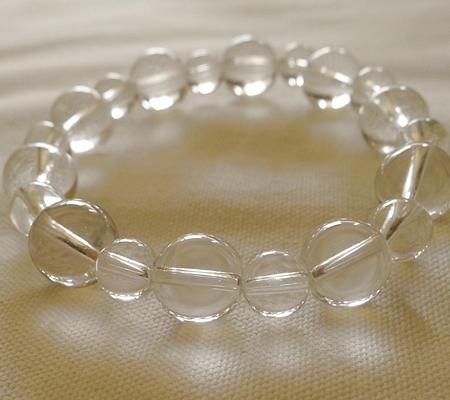 ヒマラヤ水晶ブレスレット透明丸玉116-7
