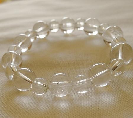 ヒマラヤ水晶ブレスレット透明丸玉116-8
