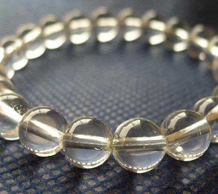 ヒマラヤ水晶ブレスレット透明丸玉118-2