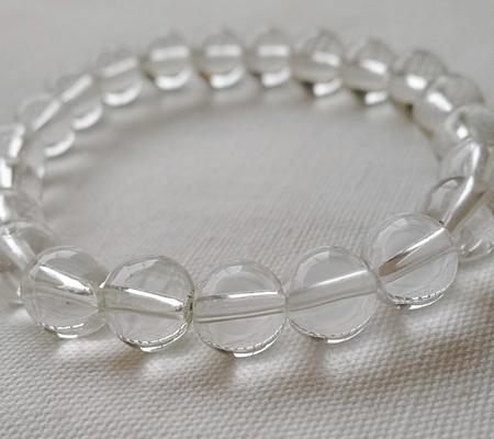 ヒマラヤ水晶ブレスレット透明丸玉118-6