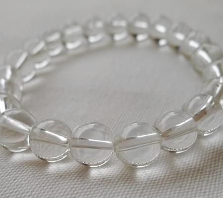ヒマラヤ水晶ブレスレット透明丸玉118-8