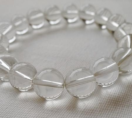 ヒマラヤ水晶ブレスレット透明丸玉119-5