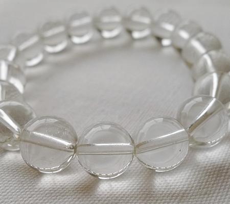 ヒマラヤ水晶ブレスレット透明丸玉119-6