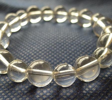 ヒマラヤ水晶ブレスレット透明丸玉120-2
