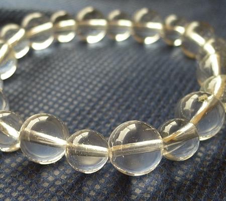 ヒマラヤ水晶ブレスレット透明丸玉120-3