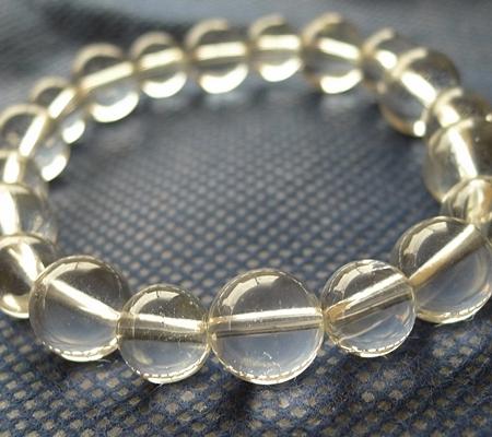 ヒマラヤ水晶ブレスレット透明丸玉120-5