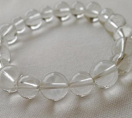 ヒマラヤ水晶ブレスレット透明丸玉120-6