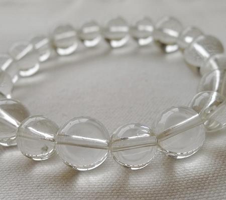 ヒマラヤ水晶ブレスレット透明丸玉120-7