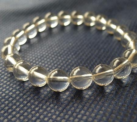 ヒマラヤ水晶ブレスレット透明丸玉121-3