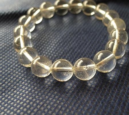 ヒマラヤ水晶ブレスレット透明丸玉123-2