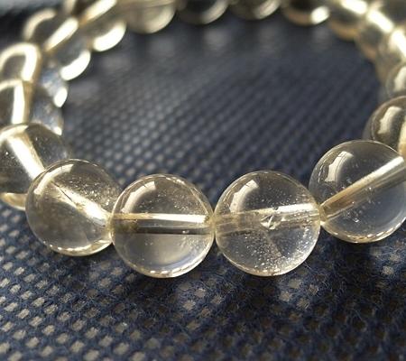 ヒマラヤ水晶ブレスレット透明丸玉123-3