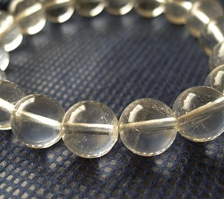 ヒマラヤ水晶ブレスレット透明丸玉123-4