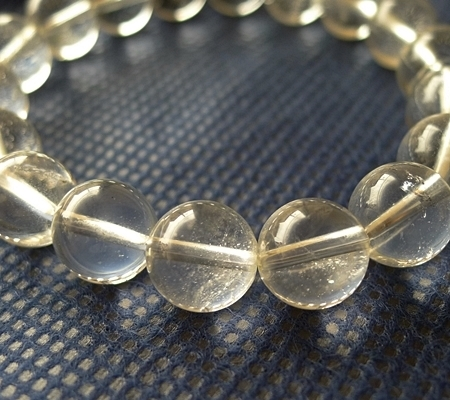 ヒマラヤ水晶ブレスレット透明丸玉123-5
