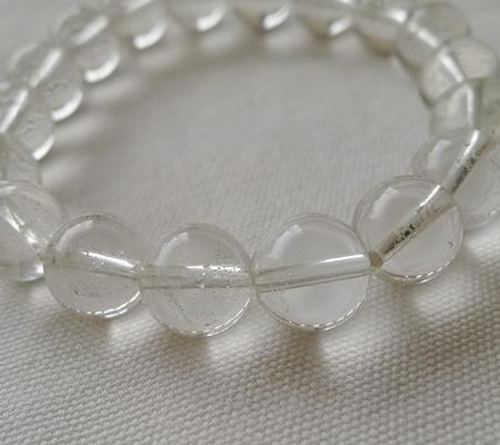 ヒマラヤ水晶ブレスレット透明丸玉123-9