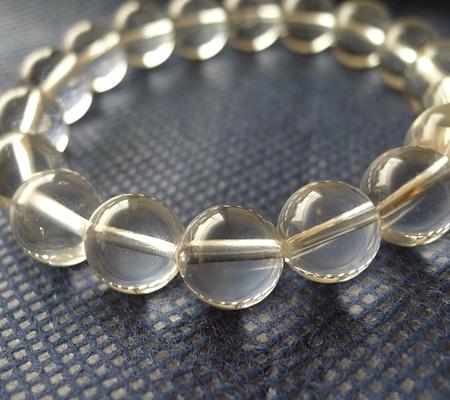 ヒマラヤ水晶ブレスレット透明丸玉124-2