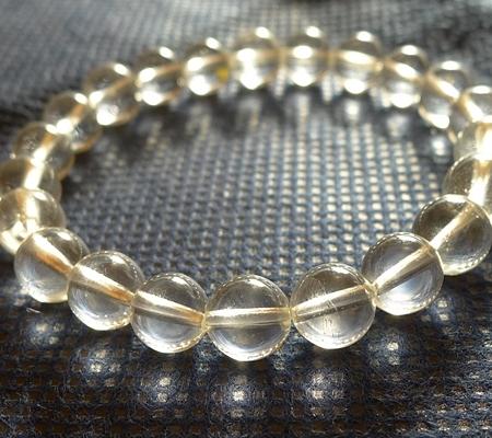 ヒマラヤ水晶ブレスレット透明丸玉129-2