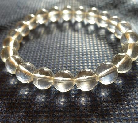 ヒマラヤ水晶ブレスレット透明丸玉129-3