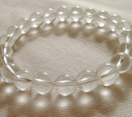 ヒマラヤ水晶ブレスレット透明丸玉129-5
