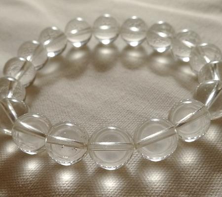 ヒマラヤ水晶ブレスレット透明丸玉130-5