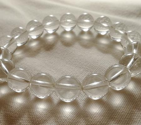 ヒマラヤ水晶ブレスレット透明丸玉130-6