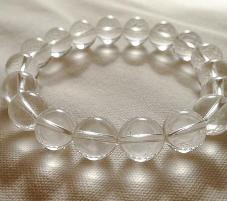 ヒマラヤ水晶ブレスレット透明丸玉130-7