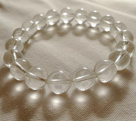 ヒマラヤ水晶ブレスレット透明丸玉131-5