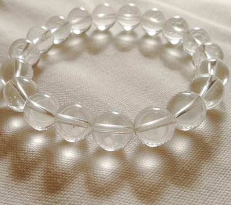 ヒマラヤ水晶ブレスレット透明丸玉131-6