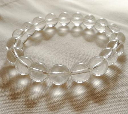 ヒマラヤ水晶ブレスレット透明丸玉131-7