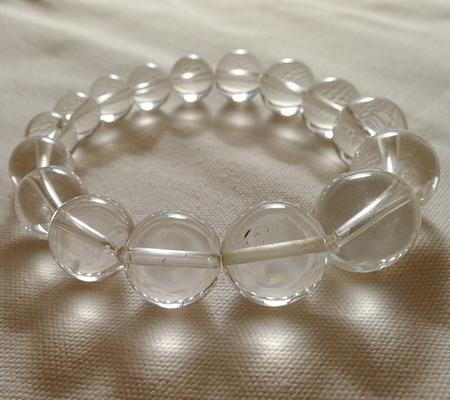 ヒマラヤ水晶ブレスレット透明丸玉132-10